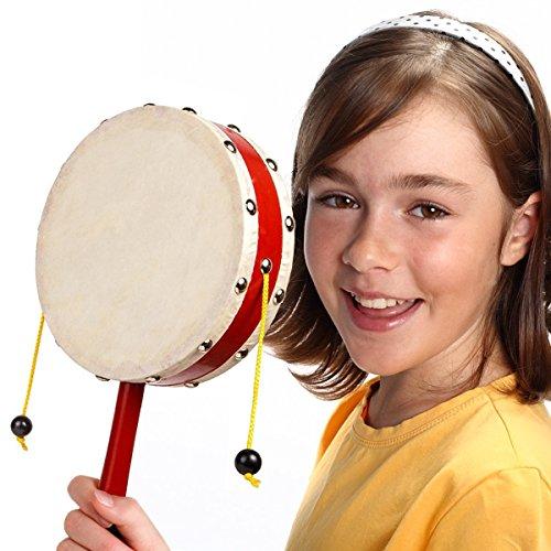 Kids Monkey Drum - Big Spinning Balance Drum 6 in String Drum - Handheld Kids Percussion Instrument Chinese Percussion