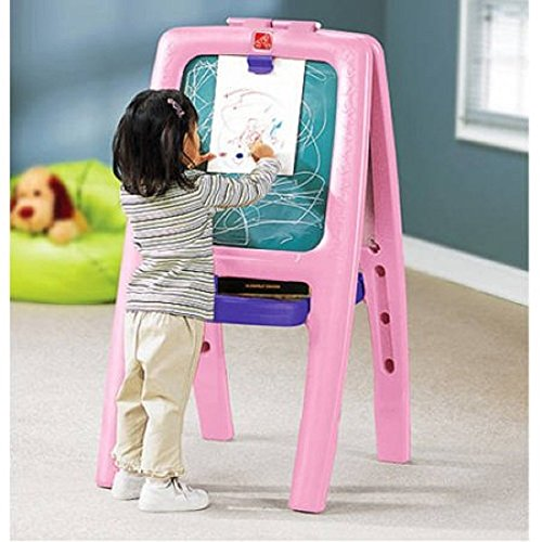 Step2 Easel For Two with Bonus Magnetic Letters/Numbers (1, Pink)