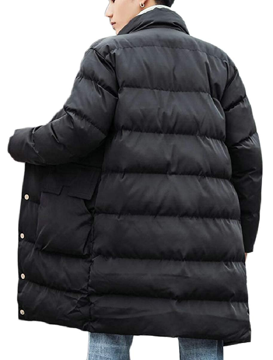 CBTLVSN Mens Overcoat Single Breasted Thick Padded Winter Stylish Down Jacket Coat