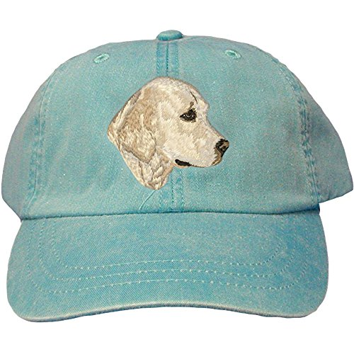 Cherrybrook Dog Breed Embroidered Adams Cotton Twill Caps - Caribbean Blue - Golden Retriever