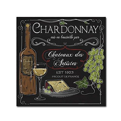 Wine Chalkboard IV by Fiona Stokes-Gilbert, chalkboard Art