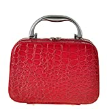 Luxury 7.6'' iConic Frame Pouch Cosmetics Case Large Makeup Bag Travel Accessory Organize Box Red