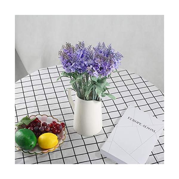 XYXCMOR-Artificial-Flowers-4-Bundle-Lavender-Plants-Silk-Flowers-Arrangements-Rustic-Wedding-Bouquet-Decor-for-Vase-Home-Kitchen-Garden-Purple