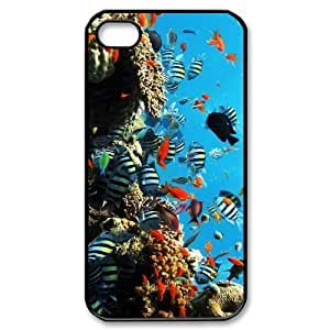 TYH - Cheap phonecase, Colorful undersea world picture for black plastic iphone 5/5s case ending phone case