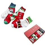 Hot Sale! Napoo 5 Pairs Christmas Unisex Cute Wool Socks Multi-Color Winter Warm Socks (B)