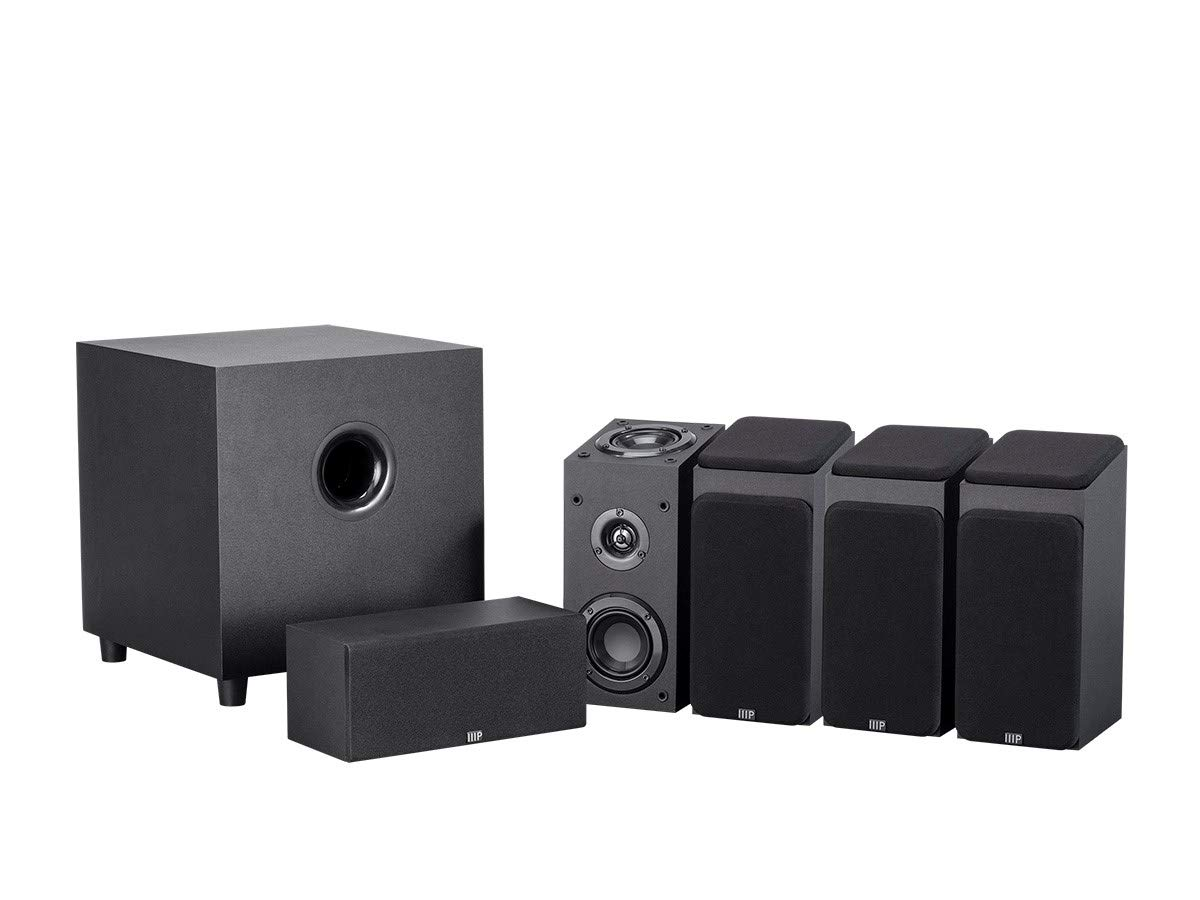 Monoprice 133832 Premium 5.1.4-Ch. Immersive Home Theater System - Black with 8 Inch 200 Watt Subwoofer