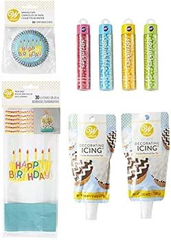 8-Piece Wilton Happy Birthday Cupcake Party Set