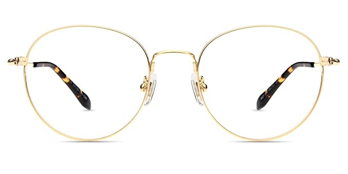 dde84b30c11 Firmoo Prescription Rx Lens Reading Glasses Vintage Retro Round Metal Gold  Frame