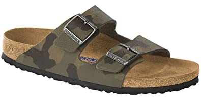 5d9957ed37 Birkenstock Men's Arizona Soft Footbed Sandal Camo Brown Birko-Flor Size 42  ...