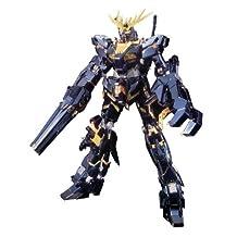 Bandai Hobby Banshee Titanium Finish Master Grade 1/100 RX-0 Gundam Unicorn Unit 02 Action Figure (japan import)