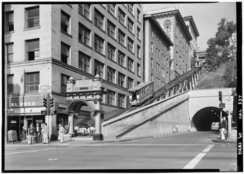 Angeles Angels Los Photograph (Photo Angels Flight Third & Hill Streets Los Angeles CA)