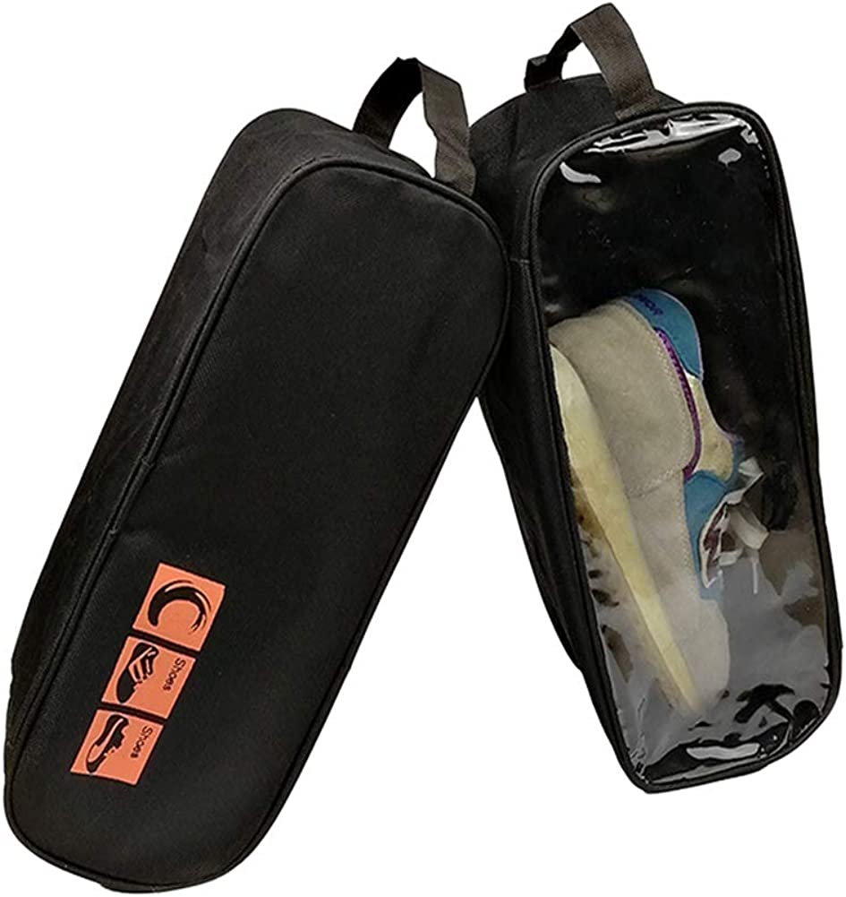 Sechunk Transparent Shoe Bags Set of 4 Nylon Zipper for Men /& Women Organizer Bag for Travel