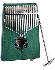 Kalimba 17 Keys Thumb Piano, Kalimba 17 key Thumb Piano Finger Piano Kalimba Thumb Piano 17 Keys Mbira Finger Piano Built-in pickup Portable Mahogany Wooden Body Musical Instrument(Green)
