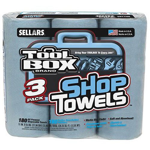 SELLARS WIPERS & SORBENTS 5448301 Tool Blue Shop Towel (3 Pack)