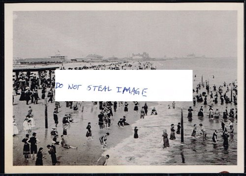 1902 Photo View Turned Into Recent Postcard Of Coney Island New York City