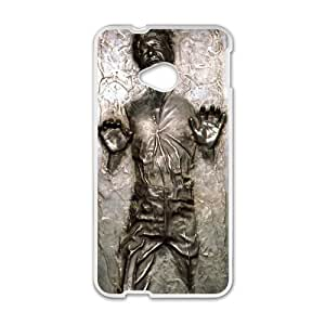 Happy Star Wars Han Solo in Carbonite Life Cell Phone Case for HTC One M7