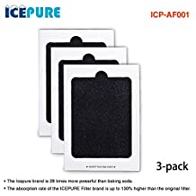 Icepure ICP-AF001 3 Pack Refrigerator Air Filter Replace Frigidaire PAULTRA; Electrolux EAFCBF
