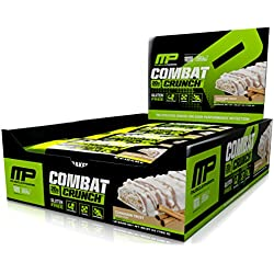 MusclePharm Combat Crunch Protein Bar, Cinnamon Twist,NET WT-26.67 0z.(756g) 12 Bars