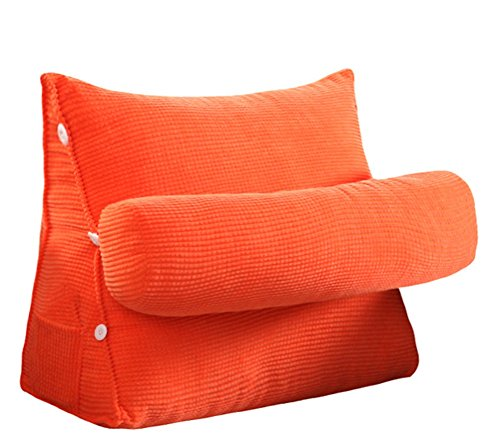 Adjustable Sofa Large Filled Triangular Wedge Cushion Couch Bed Office Chair Backrest Pocket LivebyCare Positioning Support Pillow Reading Office Lumbar Pad with Removable Cover by LivebyCare
