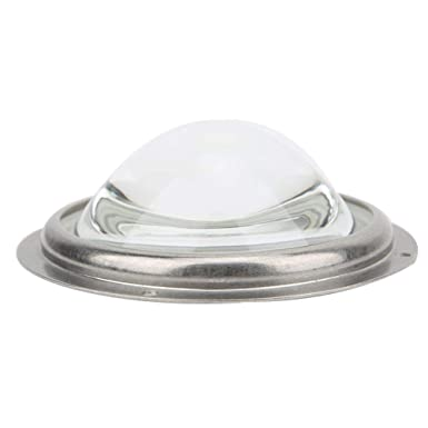 Condenser Lens LED Lens Optical Glass 100mm 60/° Waterproof Rubber Circle with Fixed Bracket for 20-200W LED