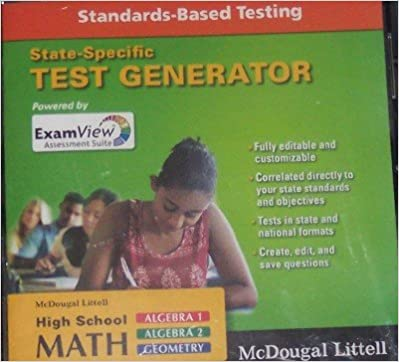 Amazon mcdougal littell algebra 1 examview suite 60 test mcdougal littell algebra 1 examview suite 60 test generator cd rom 1st edition fandeluxe Image collections
