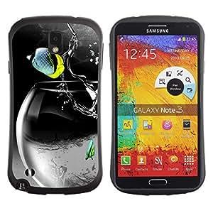 Hybrid Anti-Shock Bumper Case for Samsung Galaxy Note 3 / Cool Rocket Fish