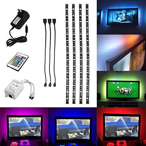 HJD Light®5050 RGB 4x50CM Waterproof Strip Lights Sofa Couch Back Light LED Backlight Accent Night Light with 24key IR Remote Controller (Rope Couch)