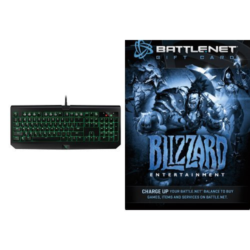 $20 Battle.net Store Gift Card Balance - Blizzard Entertainment [Digital Code] and Keyboard Bundle