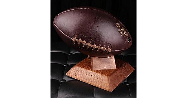 Balón de fútbol americano. – Soporte cuadrado madera maciza medio ...