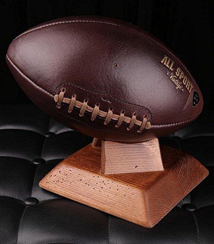 Balón de fútbol americano. - Soporte cuadrado madera maciza medio ...