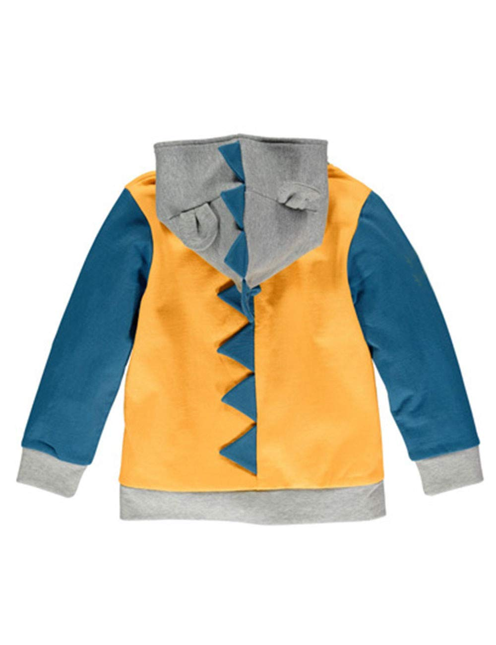 LitBud Boys Jacket for Kids Toddler Cartoon Dinosaur Jurassic World Zipper Packaway Spring Animal Hoodies Coat Size 4-5 Years 5T Halloween Yellow