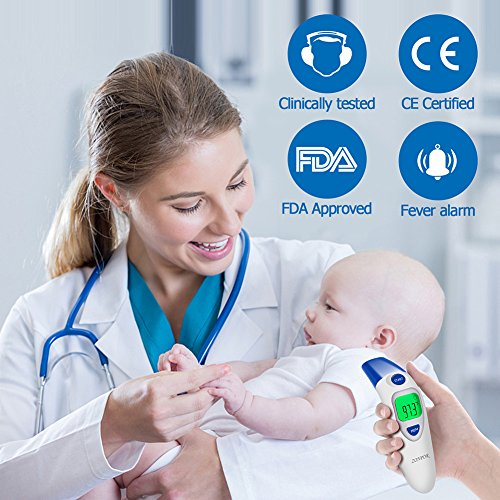 Digital Forehead Thermometer, Zonpor Medical Infrared Baby Thermometer for Fever Kids/Adult with Ear Function Body Basal Thermometers Accurate Reading Medically Proven, FDA and CE Approved by zonpor (Image #1)