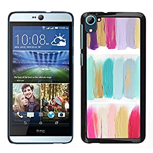 HTC Desire 826 dual Único Patrón Plástico Duro Fundas Cover Cubre Hard Case Cover - Oil Paint Green Pastel Colors