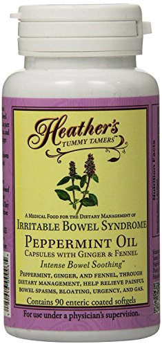 Heather's Tummy Tamers Peppermint Oil Capsules for IBS, 90 Count Bottle (Best Fiber For Ibs)