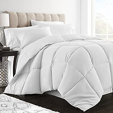 Restoration Down Alternative Comforter Full/Queen - Best Hotel Quality Hypoallergenic Duvet Insert Bedding - White