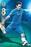 England Chelsea Frank Lampard (2012-2013 Season) Football Soccer Sports Fan Poster Print 24x36