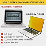 """MacBook Air 11 inch Privacy Screen Filter (Apple Model A1465 / A1370), Anti Glare/Blue Light Protector Film for Data confidentiality (MacAir 11"""" Gold)"""