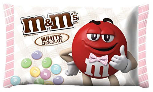 M&M's White Chocolate Easter Candy 8oz (226.8g) Seasonal Limited Edition. Perfect for Baskets and Filling Eggs with Treats
