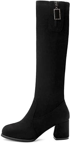 Suede Knee High Boots for Women Elastic