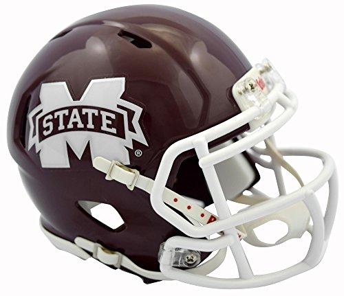 Sports Memorabilia Riddell Mississippi State Bulldogs 2016 Revolution Speed Mini Football Helmet - College Mini Helmets