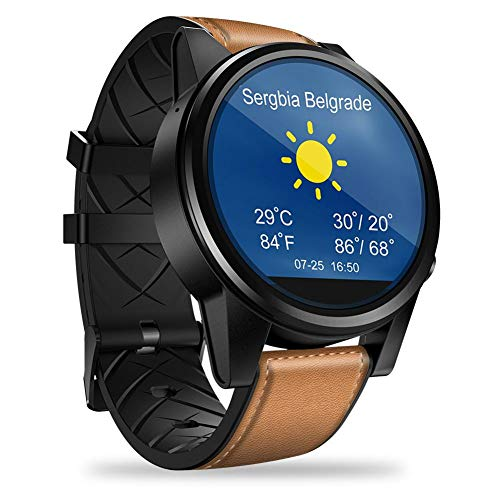 PQFYDS GPS Smartwatch, Zeblaze Thor 4 PRO 4G Smart Watch 1.6 inch Crystal Display GPS/GLONASS Quad Core 16GB ROM 5.0MP Camera Support Nano SIM Compatible with Android/iOS