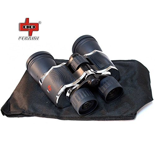 Day/Night 20x60 High Quality Outdoor Chrome Binoculars w/Pouch by Perrini by Sawan Shop