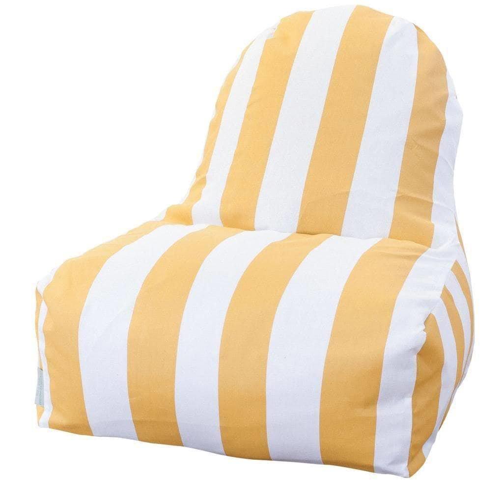 Majestic Home Goods Kick-It Chair, Vertical Stripe, Yellow