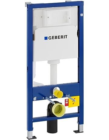 Geberit 458103001 Duofix Basic - Bastidor para montaje a pared de inodoro con cisterna UP100 (
