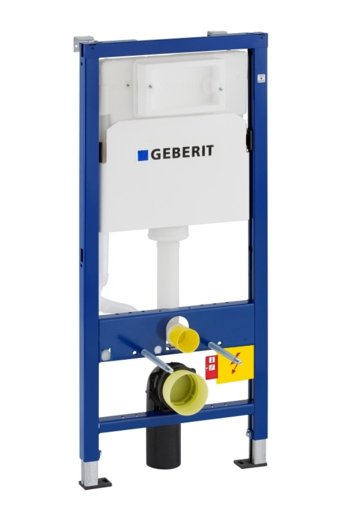 Geberit 458103001 Ensemble bâ ti-support Duofix UP100 + ré servoir pour WC muraux 112 cm GEB458103001
