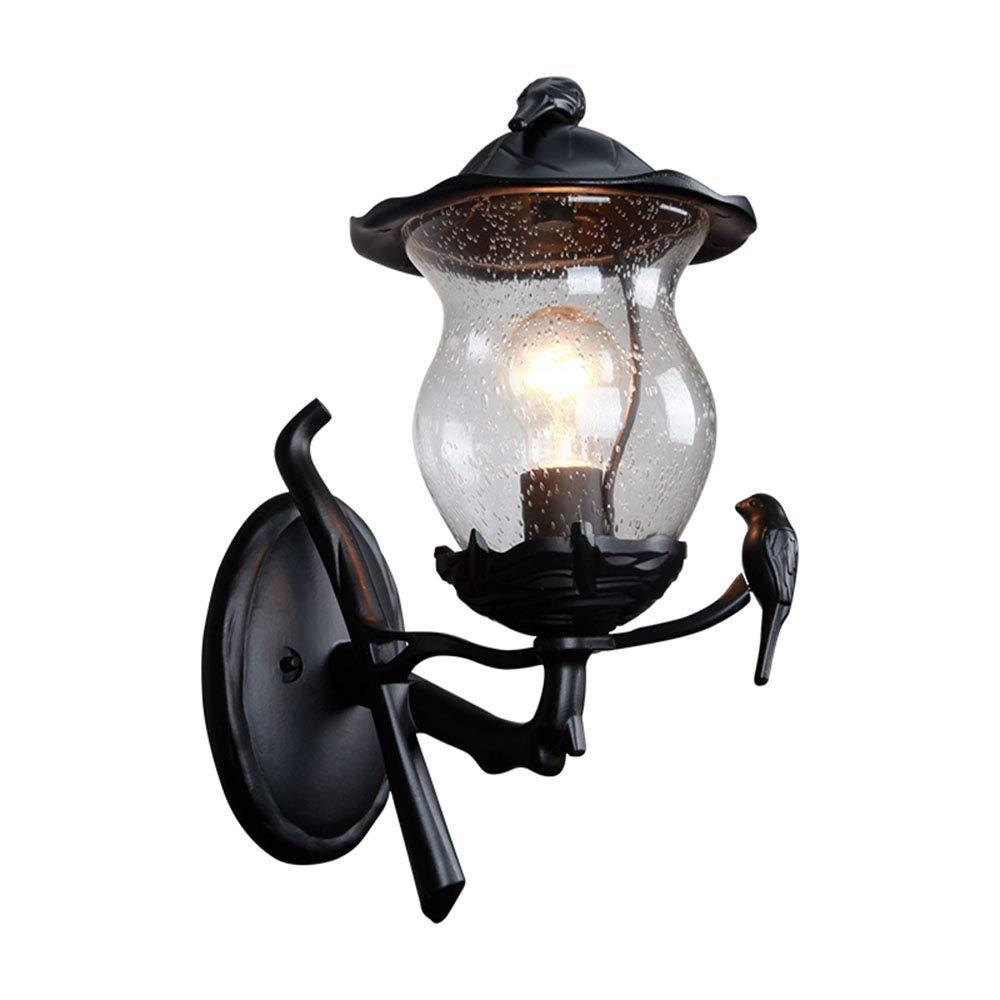 benvenuto per ordinare Lampada Da Parete Parete Parete Per Esterni Antica Illuminazione Per Esterni Retro Nero Alluminio Vetro Decorazione Giardino Ingresso Lampada E27 Impermeabile Esterno Lampada Da Parete Creativa Lanterna  profitto zero