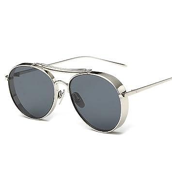 GAOJUAN Gafas De Sol Estilo Steampunk Gafas De Sol Redondas Vintage Polarizadas Gafas Retro Protección UV400