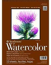 Strathmore 440-1 Strath W.Color 400 9X1212SHT 130LBSPIRL, 140 lb-9 X 12 in, Multicolor, 12 Sheets