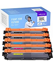 myCartridge SUPCOLOR Compatible Toner Cartridge Replacement for Brother TN221 TN 221 TN225 TN 225 to use with HL-3140CW HL-3170CDW MFC-9130CW DCP-9020CDN (2 Black 1 Cyan 1 Yellow 1 Magenta, 5-Pack)