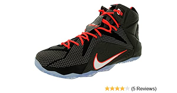 competitive price 0cd64 6e713 Amazon.com   Nike Lebron XII Mens Basketball Shoes 684593-016 Black  White-Bright Crimson 10 M US   Basketball